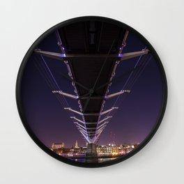 Millennium Bridge London England Wall Clock
