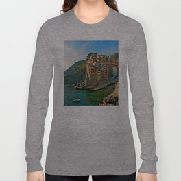 Italy. Cinque Terre - Canal side Long Sleeve T-shirt