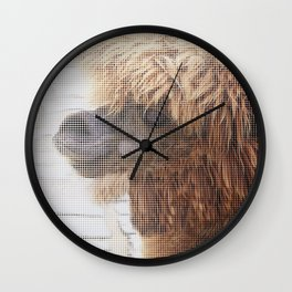 Halftone pixel fun LAMA Wall Clock