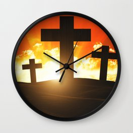 Good friday easter ressurection Wall Clock