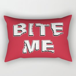 Bite Me Rectangular Pillow