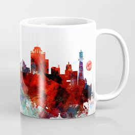 Colorful Milwaukee watercolor skyline Coffee Mug