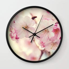 cotton candy flowers Wall Clock