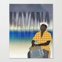 Havana Conguero Canvas Print