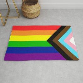 LGBTQ+ Pride Flag Inclusive (LGBTQ+ Pride, Gay Pride) Rug