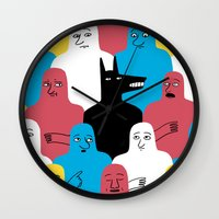 wolf Wall Clocks featuring A Wolf by Jack Teagle