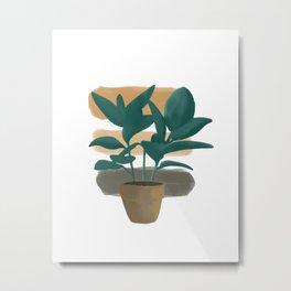 Plant and shadow  Metal Print
