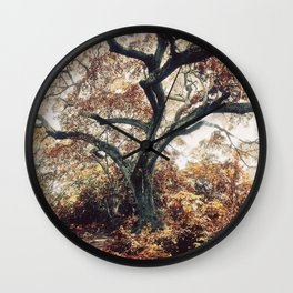 Crimson Fate - Magical Realism Life Wall Clock