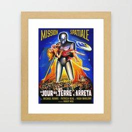 Mission Spatiale, Le Jour ou la Terre s Arreta, sci-fi vintage movie poster Framed Art Print