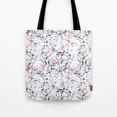 Splat Red White and Blue 2 Tote Bag