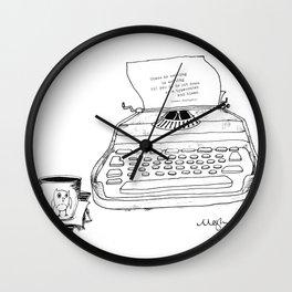 Earnest Hemingway Writing on Typewriter Wall Clock