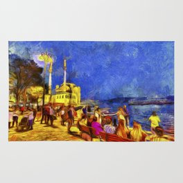 Istanbul At Night Van Gogh Rug