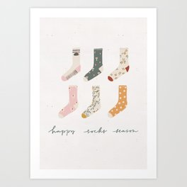Socks season Art Print