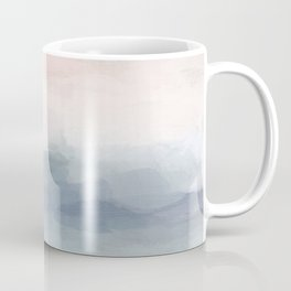 Blush Pink Mint Sky Baby Blue Abstract Ocean Sky Sunrise Wall Art, Water Clouds Painting Coffee Mug