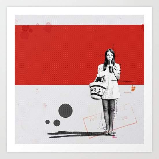 June | Collage Art Print