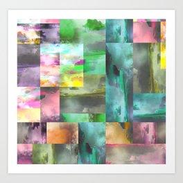 Geometric Clouds and Sky Art Print