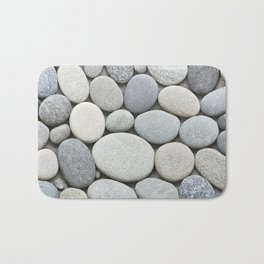 Grey Beige Smooth Pebble Collection Bath Mat