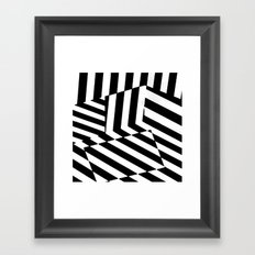 Black and White Dazzle Camouflage Pattern Framed Art Print