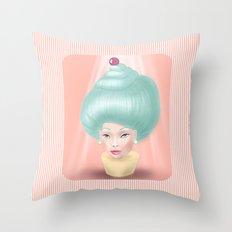 Miss Cupcake Throw Pillow