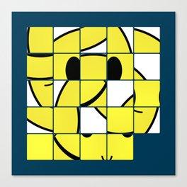Acid Smiley Shuffle Puzzle Canvas Print