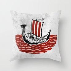Lone Viking Throw Pillow
