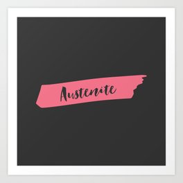 Pink Brush Austenite Art Print