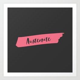 Pink Brush Austenite Art Print