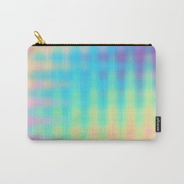 Wavy Pastel Rainbow Design Carry-All Pouch