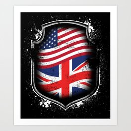 British American Flag Art Print