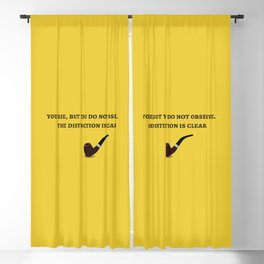 The Sherlock Holmes Quote III Blackout Curtain