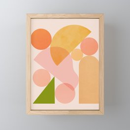 Abstraction_SHAPES_COLOR_Minimalism_002 Framed Mini Art Print