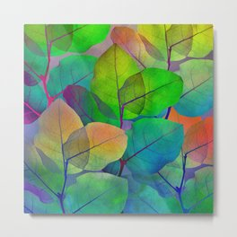 Translucent Leaves Metal Print