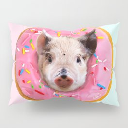 Pig Strawberry Donut Pillow Sham