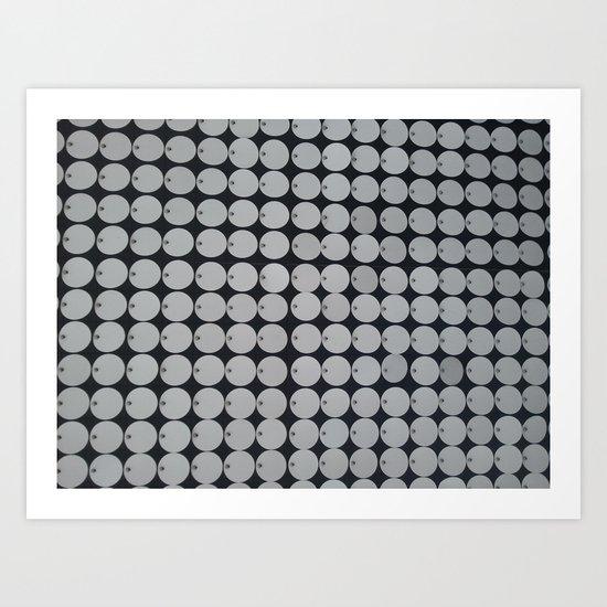 METAL CIRCLES Art Print