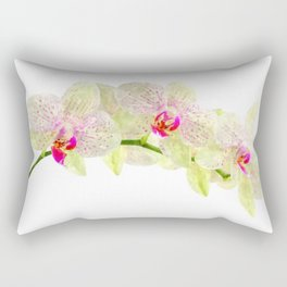 Phalenopsis orchid white lilac, watercolor fine art Rectangular Pillow