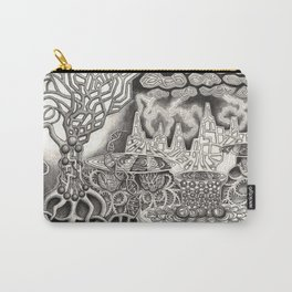 BioTechnological DNA Tree and Abstract Cityscape Carry-All Pouch
