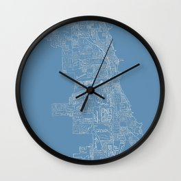 Communities of Chicago Wall Clock