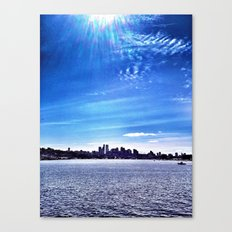 Seattle Lake Landscape Canvas Print