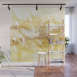 Golden Marble Abstract II Wall Mural