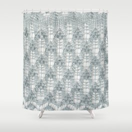 Estonian lace knitting with nupps Shower Curtain
