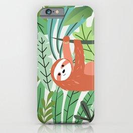 Jungle Sloth iPhone Case