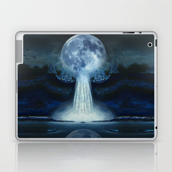 waterfall moon Laptop & iPad Skin