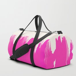Pink Paint Layers Duffle Bag