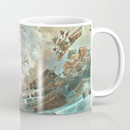 Aqua Space Shipyard Coffee Mug