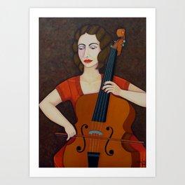 Guilhermina Suggia - Woman cellist of fire Art Print