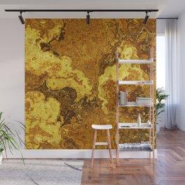 Vibrant Marble Texture no1 - Amber Yellow Wall Mural