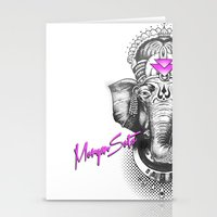 ganesha Stationery Cards featuring Ganesha by Morgan Soto