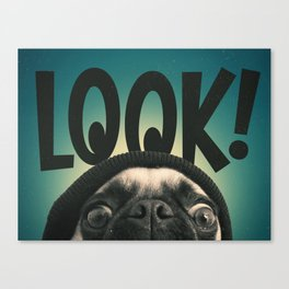 LOOK it's Lola the pug Canvas Print