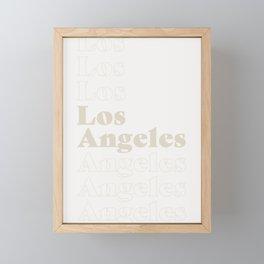 Los Angeles Type - Light Framed Mini Art Print