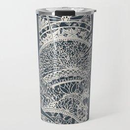 Feather Paper-Cut Travel Mug
